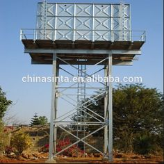Galvanized Water Tank, Galvanized Steel, Steel Water Tanks, House Design Photos, Construction, Water Tower, Water Treatment, Tour, Outdoor Decor
