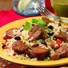 Cuban Beans and Rice with Chipotle Chorizo Chicken Sausage Allrecipes ...