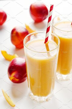 Juice from peaches and nectarines by Mellisandra on @creativemarket