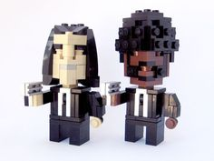 Pop culture icons in Lego by Cube Dude : PULP FICTION