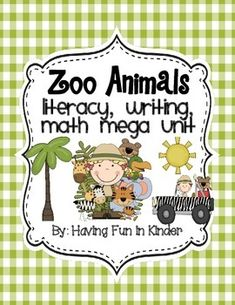 Zoo Animal themed centers will have the little ones in your classroom busy practicing important literacy, math, and writing skills.  All of the activities include several recording sheets that can be differentiated to the needs of your students and many can be used immediately as COPY AND GO if you are in a pinch for time or if you simply are tired of laminating your centers.