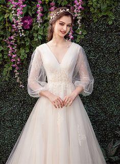 Long Wedding Dresses, Bridal Dresses, Wedding Gowns, Flower Girl Dresses, Wedding Bride, Pretty Dresses, Beautiful Dresses, Dream Dress, Designer Dresses