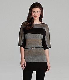 Takara Lurex Striped Sweater Dress #Dillards