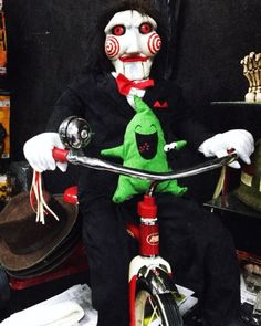 Saw Jigsaw Puppet Life Size Doll With Radio Flyer