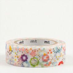 Masking tape - Fleurs multicolores (colorful POP)