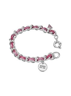 Pink Leather & Chain Bracelet | GUESS.eu