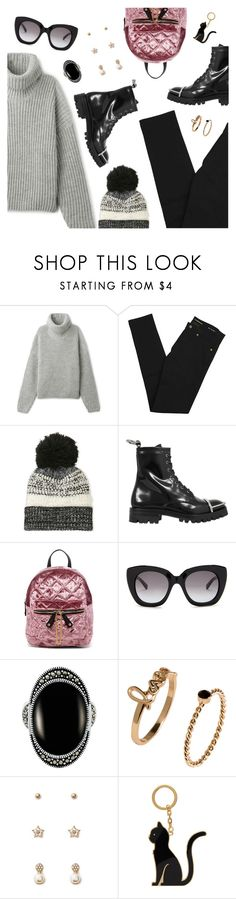 """Street Style"" by dressedbyrose ❤ liked on Polyvore featuring Yves Saint Laurent, Cejon, Alexander Wang, Urban Expressions, Kate Spade, Le Vieux, Forever 21 and Thom Browne"