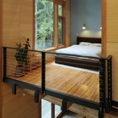 Contemporary forest retreat filled with light in North Bend, Washington.