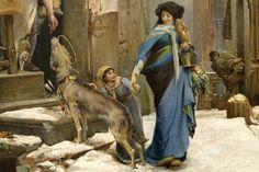 detail -File:Luc-Olivier Merson - Le Loup d'Aggubio