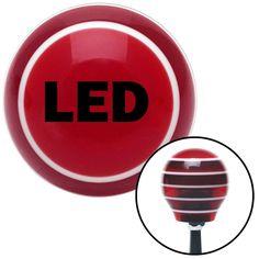 Black LED Red Stripe Shift Knob with M16 x 15 Insert