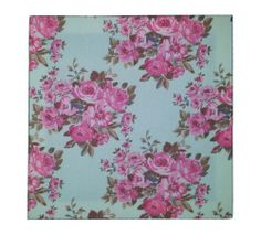Wallpaper or fabric, not sure. But like the color combo.