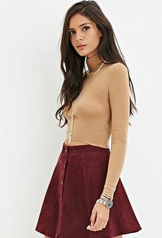 Cropped Turtleneck Sweater | Forever 21 - 2000156757