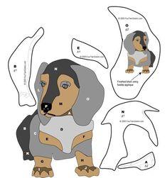 """Как сделать аппликацию из ткани """"собака"""" своими руками, шаблоны?"""