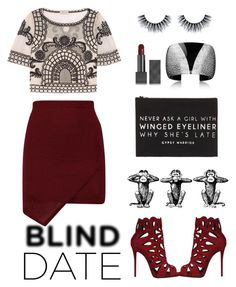 """""""Blind Date"""" by a-hint-of-nutmeg ❤ liked on Polyvore featuring Giuseppe Zanotti, Temperley London, Forever 21, Burberry, women's clothing, women, female, woman, misses and juniors"""