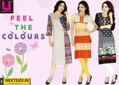 #Kurtis in all your #favoritecolors. Check them out here:www.nextsize.com