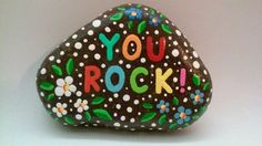 Painted Rock YOU ROCK by PlaceForYou on Etsy