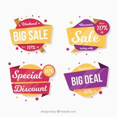 sale badges collection in flat style Free Vector