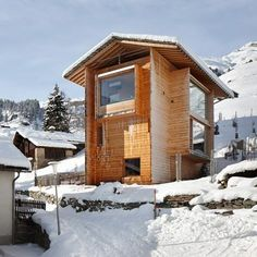 Holiday home in the mountain hamlet of Leis in Vals by Peter Zumthor