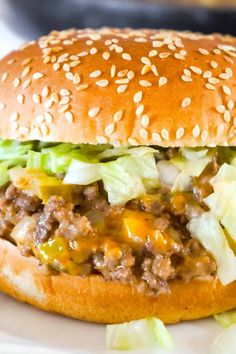 Big Mac Sloppy Joes are an easy ground beef dinner recipe perfect for weeknights. These sloppy joes are loaded with onions, pickles and cheddar cheese all tossed in a copycat Big Mac Sauce. Beef Recipes For Dinner, Cooking Recipes, Healthy Recipes, Dinner Ideas With Beef, Unique Dinner Ideas, Supper Ideas With Hamburger, Easy Supper Ideas, Kitchen Recipes, Yummy Recipes