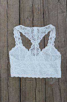 Racerback Lace Bralette :: $24.99 :: www.ShopGroovys.com racerback lace bralette, teal layering bra, unlined lace bra