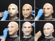 If you feel less like the Boy Who Lived and more like the Dark Lord, this makeup tutorial is for you. Transformer yourself into Voldemort with these step-by Harry Potter Voldemort, Harry Potter Makeup, Haloween Makeup, Costume Makeup, Wallpaper Crafts, Wholesale Halloween Costumes, Harry Potter Halloween, Fantasias Halloween, Theatrical Makeup