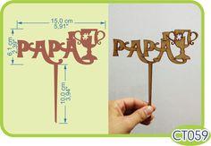 Cake Topper para Papá. -Pedidos/InquirIes to: crearcjs@gmail.com