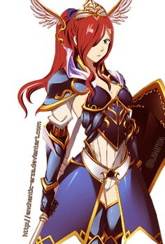 Erza Scarlet Sapphire Guardian Armour by enchantic-erza