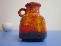 Duemler & Breiden Dümler Germany pop art ceramic vase lava 60s 70s WGP #3
