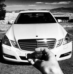 Mercedes w212 Athens Greece Mount Lycabettus
