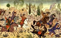 WWII/Shahnameh-themed Persian miniatures