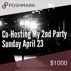 Co-Hosting My 2nd Posh Party!!!! I am so excited to share the news!!! The theme is yet to be determined but it will be a 7 p.m. style party! Please feel free to tag yourself in the comments so I can check out your closet for a possible host pick or tag an item you think fits the TBA theme! Other