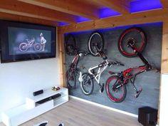 Indoor Bike Rack for Apartment 2015 Bike Storage Home, Bike Storage Apartment, Bicycle Storage, Diy Storage, Bike Wallpaper, Indoor Bike Rack, Range Velo, Bike Room, Downhill Bike