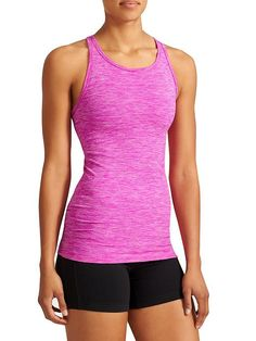 Renew Racerback Tank - Our favorite recycled poly wicks away sweat in a breathable, high-neck design with ribbed panels for a fit that moves with you.