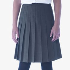 Pleated School Skirt Banner school skirt with sewn-down all-round wide knife pleats 65 Polyester 35 Viscose Knife Pleat Skirt Zip Button Fastening