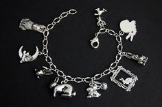 Rabbit Bracelet.  Bunny Rabbit Charm Bracelet. Bunny Bracelet. Hare Bracelet. Animal Jewelry. Silver Bracelet. Handmade Jewelry. by GatheringCharms on Etsy https://www.etsy.com/listing/295027789/rabbit-bracelet-bunny-rabbit-charm
