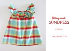Fluttery Sweet Sundress Tutorial