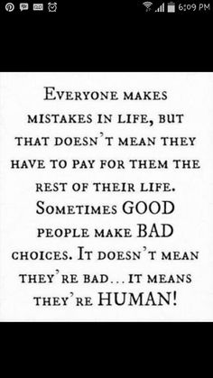 Mistakes in life..