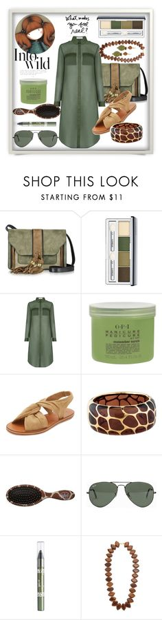 """""""Safari Look"""" by wuteringheights ❤ liked on Polyvore featuring L'Autre Chose, Clinique, Oasis, OPI, 10 Crosby Derek Lam, Angélique de Paris, Anja, Ray-Ban, Barry M and Kenneth Jay Lane"""