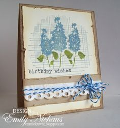 Love these Hydrangeas! Sweet card created by Emily Niehaus.