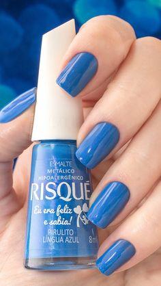pirulito-lingua-azul-risque - #nails #nail #art #artnails #nailsart