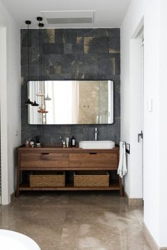40 Tips to Upgrade Small Bathroom Decor with Wooden Storage - Elegance can be created in a little space.Tall bathroom storage cabinets may be used for a great number of storage requirements Minimalist Bathroom Design, Bathroom Interior Design, Bathroom Storage, Small Bathroom, Bathroom Cabinets, Bathroom Ideas, Relaxing Bathroom, Vanity Bathroom, Bathroom Styling