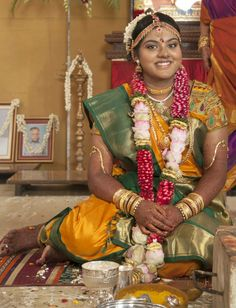 A very grand bridal wear Madisar in Mustardish yellow & green combo. Intricately embroidered designer blouse adds beauty to this already gorgeous looking saree & bride. Wedding Shoot, Dream Wedding, Wedding Ideas, Candid Photography, Wedding Photography, South Indian Bridal Jewellery, Indian Costumes, Amazing India, Indian Silk Sarees