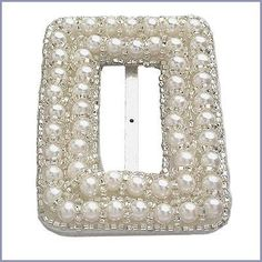 24 UNIQUE Rectangle Pearl BEADED Buckles For by allysonjames