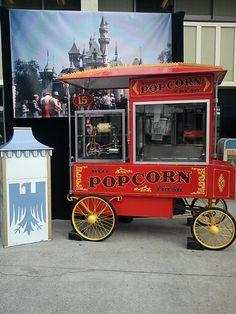 Vintage popcorn cart. She's still a beauty!