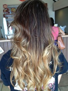 Real Ombre Hair Extensions~ WOW! You mean I need to have my hair color touched up and there are women that are paying money to have their hair look like my grow out?You are welcome! How lucky am I????