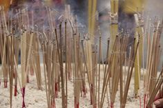 A photo of lit incense at a pagoda in Cambodia. of proceeds from each sale are donated to Human and Hope Association, a grassroots community centre based in Incense Photography, Siem Reap, Cambodia