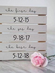 Use a wood crate to remember special dates!