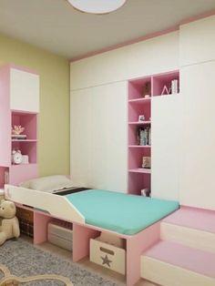 Small Room Design Bedroom, Small House Interior Design, Home Room Design, Girl Bedroom Designs, Kids Room Design, Interior Design Living Room Warm, Interior Modern, Girls Bedroom Furniture, Home Decor Bedroom