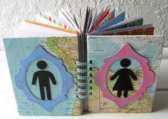 His & Hers Ephemera Journal 2 Handmade Journals, Art Journals, Mini Albums, Ephemera, Recycling, Scrap, Paper, Artist, How To Make