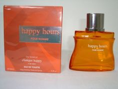HAPPY HOURS-3.4 OZ-EDT-FOR MEN-VERSION OF CLINIQUE HAPPY by DIAMOND COLLECTION. $12.00. HAPPY HOURS POUR HOMME-3.4 OZ-EDT-FOR MEN. VERSION OF CLINIQUE HAPPY. DIAMOND COLLECTION LUXURIOUS FRAGRANCES. MAIN ACCORDS:CITRUS,AROMATIC,SWEET,MARINE,GREEN.